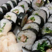 Sushi Roll Futo Maki With Chicken
