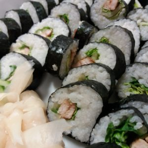 "Japanese Cuisine ""Sushi Roll Futo Maki With Chicken"" With Ayako"