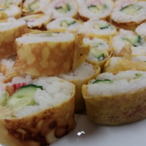 "Japanese Cuisine ""Sushi Roll Futo Maki With Eggs"" With Ayako"