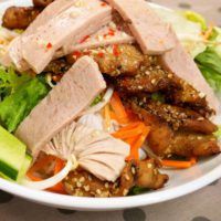 Vietnamese Cuisine With Chi-Chi: Bun Thit Nuong (grilled Pork With Rice Vermicelli And Herbs)