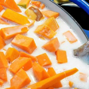 Thai Cuisine With Ratcha: Pumpkin In Sweet Coconut Milk