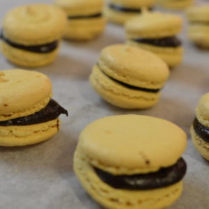 Macarons With Jolanta: Orange And Passion Fruit Jelly / Coffee Ganache And Grapefruit And Campari Ganache