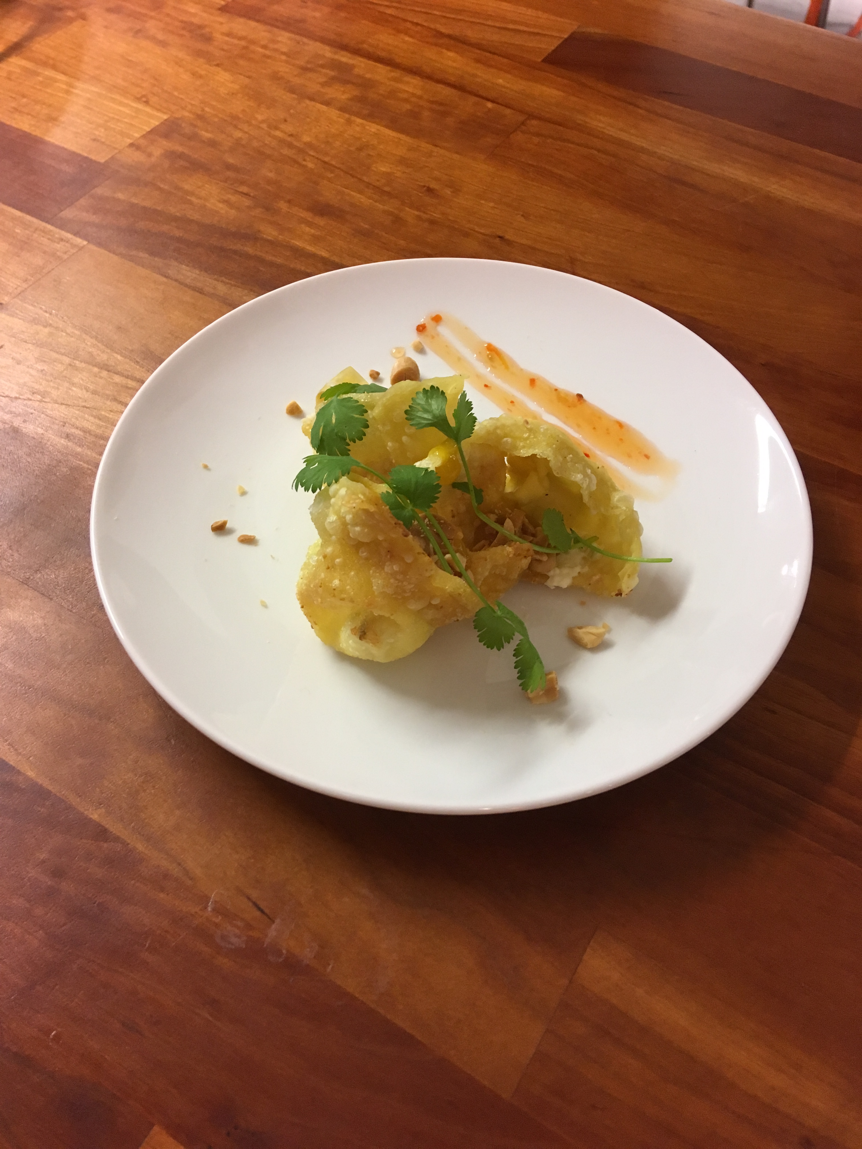 Vietnamese Cuisine With Tram – Hoanh Tanh Chien, Deep Fried Wonton With Cream Cheese And Spring Onion