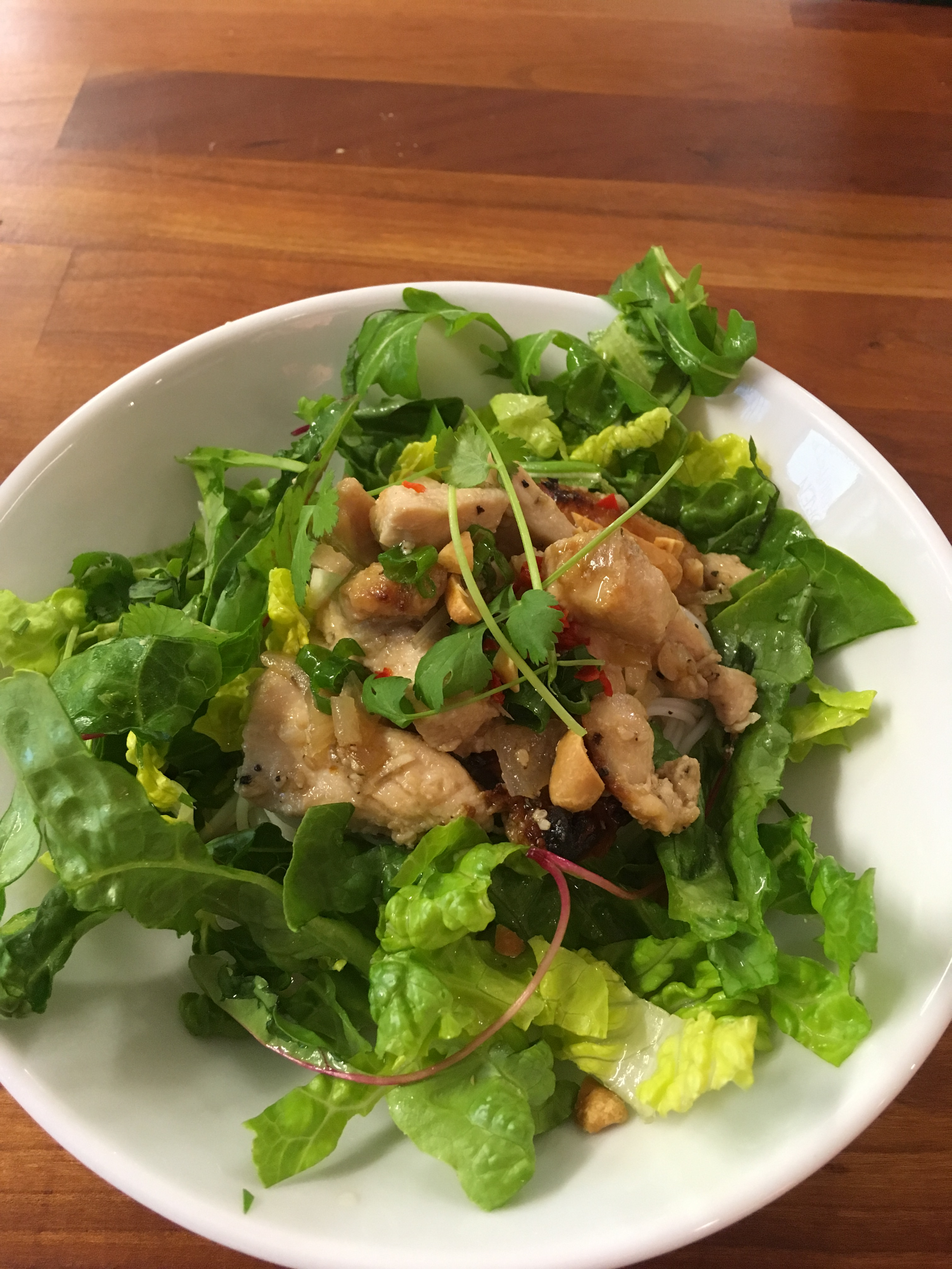 Vietnamese Cuisine With Tram – Bun Thit Nuong, Noodle Salad Bowl With Lemongrass Chicken